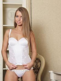 Stella Lane In Sexy White Corset