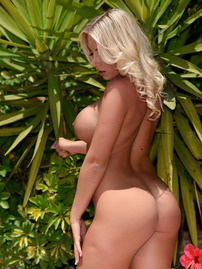 Stacey Strips Nude Outdoors