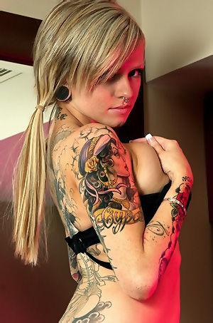 Tattooed Girl With Big Boobs