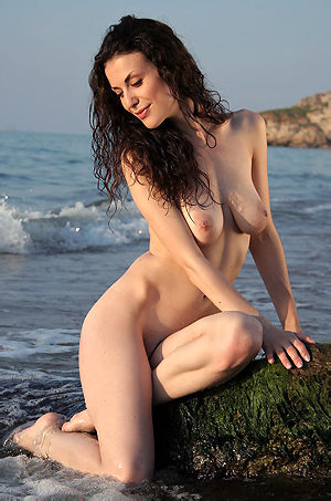 Terry Nude On The Rocks