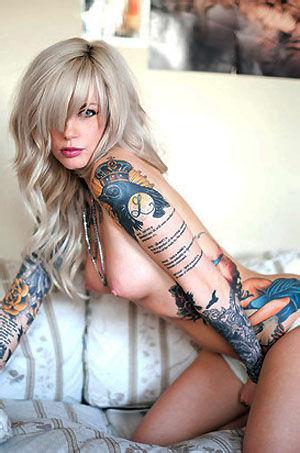 Vice Sexy Tattooed Blonde Girl