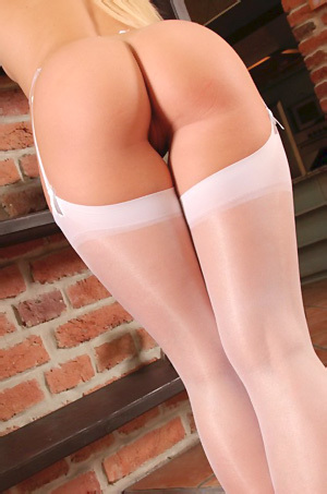 Tracy In White Stockings