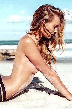 Maya Stepper On The Beach