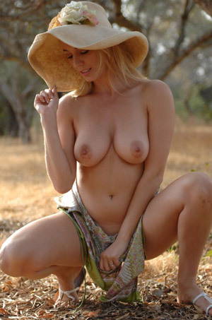 Hayley Marie Coppin Wearing Hat