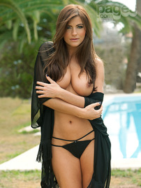 Sexy Brunette Sam Cooke Poolside