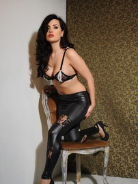 Ann Denise In Sexy Leather Pants