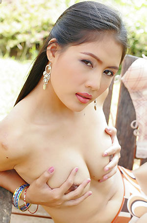 Kinky Asian Babe Playing Outdoors