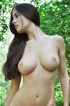 Busty Latina Is Naked In The Forest