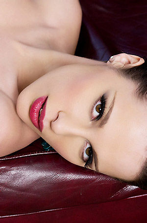 Nikita Bellucci Gets Naked On Red Couch