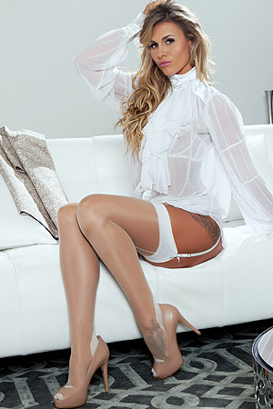 Blonde Penthouse Pet Ella Silver