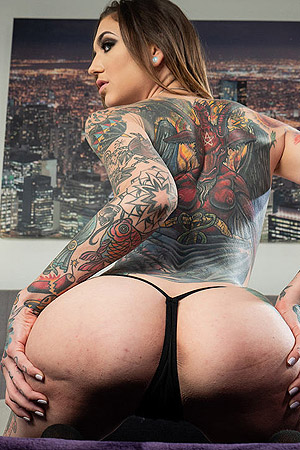 Tattooed Rocky Emerson Gets Her Hands On A Dick