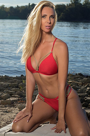 Adri In Lovely Red Bikini